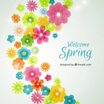 Wiosenne kwiaty w tle