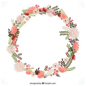 Wiosenne kwiaty wieniec