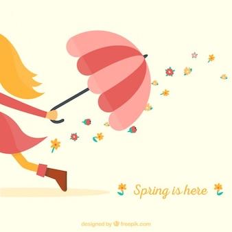 Wiosna jest tutaj, w tle