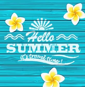 Witaj lato. Wektor.