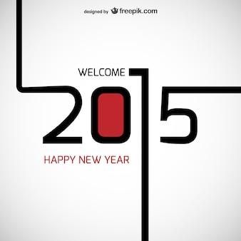 Witamy +2015 wektor