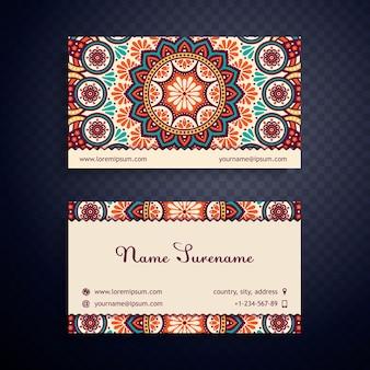 Wizytówka karta zabytkowe elementy dekoracyjne ręcznie narysowanego tła