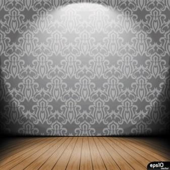 wnętrze rocznika wektorowe tapety ze światłem