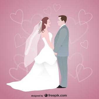 Wolne sztuka wektor wesele