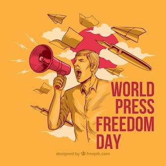 Wolność prasy w tle