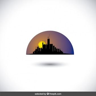Wschód słońca skyline