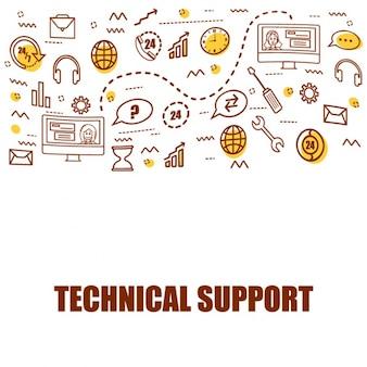 Wsparcie techniczne w tle