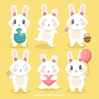 Wybór sześciu dość wielkanocnych królików