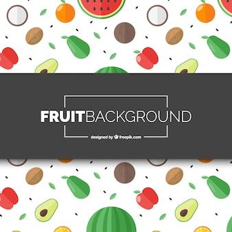 Wymieszaj tło owoców