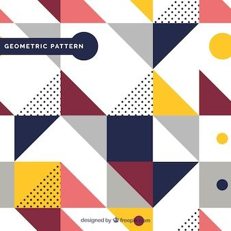 Wzór geometrycznych kolorowych kształtów