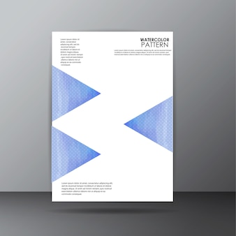 Wzór strony akwarela wzór strony