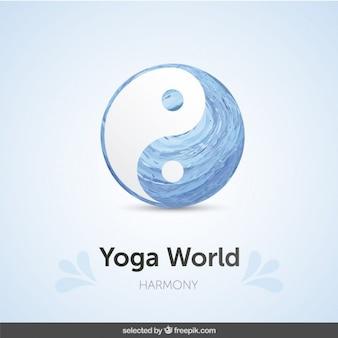 Ying Yang symbol tła