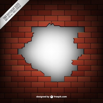 Złamane ceglany mur