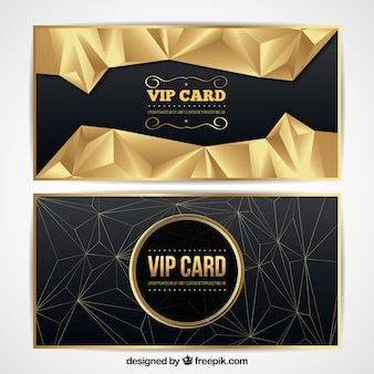 Złote abstrakcyjne karty vip