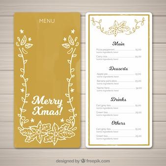 Złote menu Boże Narodzenie