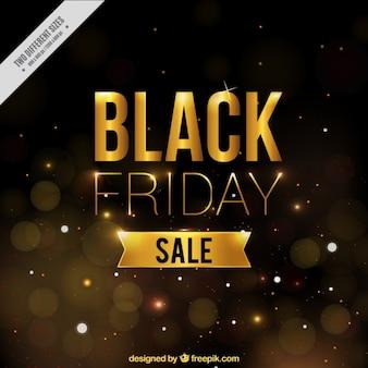 Złote tło dla Black Friday