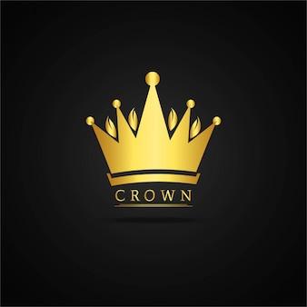 Złoty koronę tła