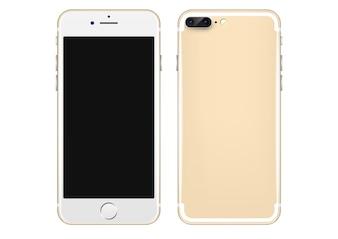 Złoty telefon komórkowy szablonu