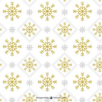 Złoty wzór płatka śniegu