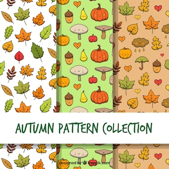 Zabawa jesienią kolekcji wzorów