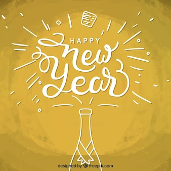 Zabawa nowego roku tle szampana
