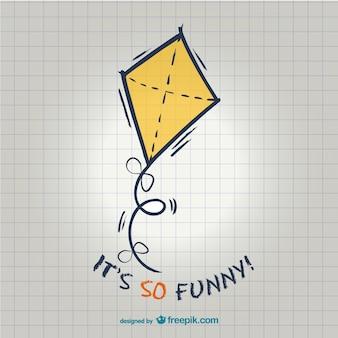 Zabawna ilustracja latawiec