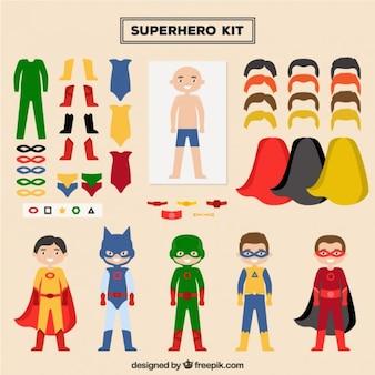 Zaprojektuj superbohatera z tego zestawu