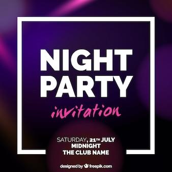 Zaproszenie na przyjęcie z białą ramką