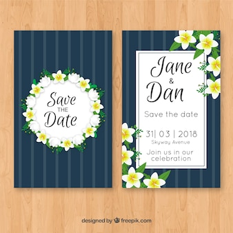 Zaproszenie na wesele z kwiatami jaśminu