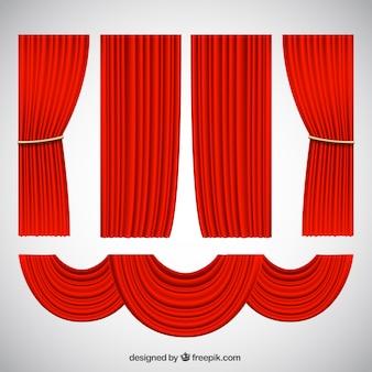 Zasłony dekoracyjne teatralne w realistycznym stylu
