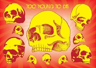 zbyt młody, by umrzeć wektor