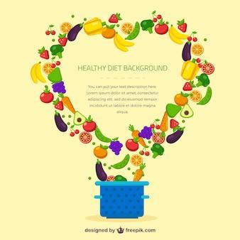 Zdrowa dieta w tle