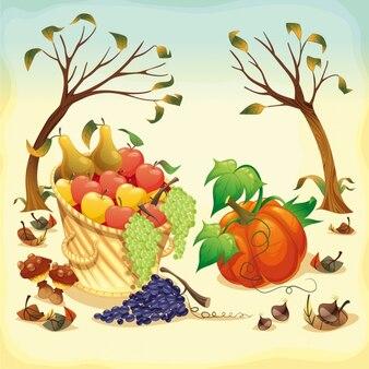 Zdrowe jedzenie tło wzór