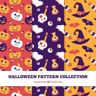 Zestaw ładne wzory halloween