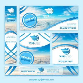 Zestaw banerów agencji turystycznej