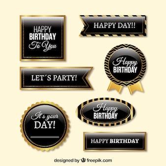 Zestaw eleganckich odznaczeń urodzinowych