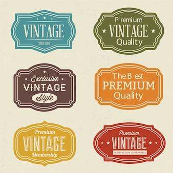 Zestaw etykiet Vintage