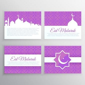 Zestaw kart muslim festiwalu