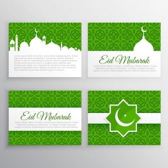 zestaw kart okolicznościowych święto Eid