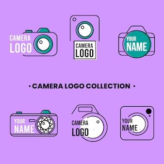 Zestaw logosów w stylu liniowym
