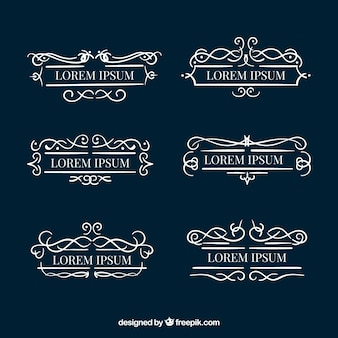 Zestaw monogramów dekoracyjnych