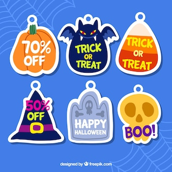 Zestaw naklejek z rabatem Halloween