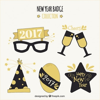 Zestaw Nowego Roku 2017 elementów