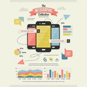Zestaw retro infografika Elements