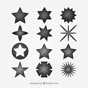 Zestaw różnych gwiazd