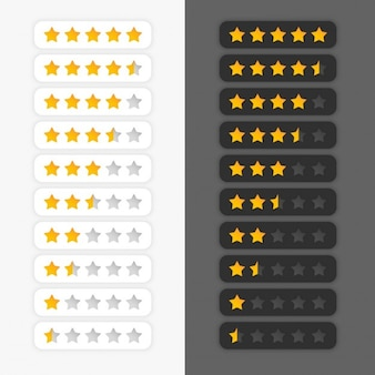 Zestaw symboli Star Rating