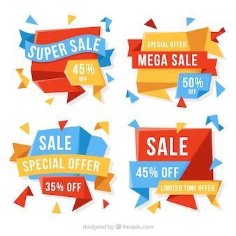 Zestaw transparenty sprzedaży abstrakcyjna