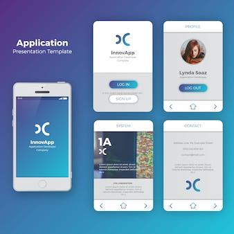 Zestaw UI aplikacja mobilna