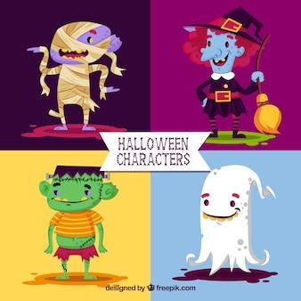 Zestaw uroczych znaków halloween