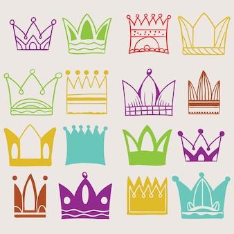 Zestaw wektora Crown